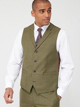 Skopes Skopes Standard Moonen Waistcoat - Olive Check Picture