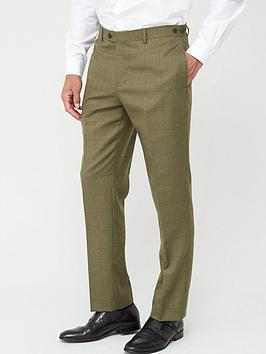 Skopes Skopes Tailored Moonen Trousers - Olive Check Picture