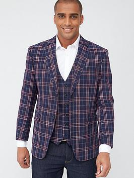 Skopes Skopes Tailored Perin Jacket - Navy/Red Check Picture