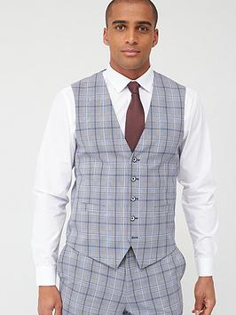 Skopes Skopes Standard Stark Waistcoat - Grey/Blue Check Picture