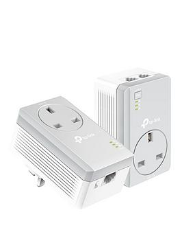 TP Link  Tp Link Av600 2-Port 100Mbps Passthrough Powerline Starter Kit