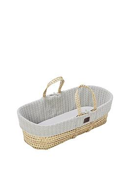 The Little Green Sheep The Little Green Sheep Organic Knit Moses Basket  ... Picture