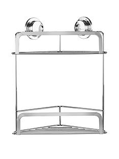 croydex-stick-lsquonrsquo-lock-2-two-tier-corner-basket