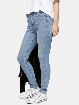 Topshop Topshop Mykonos Back Pocket Jamie Jeans - Bleached Blue Picture