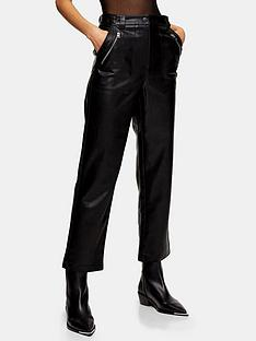 topshop-lily-straight-pu-trousers-black