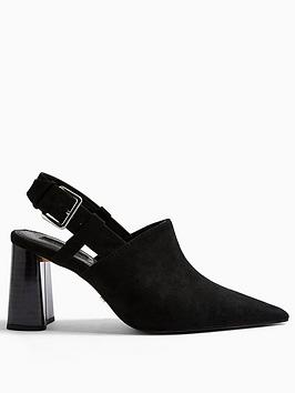 Topshop Topshop Fargo Block Heel Shoes - Black Picture