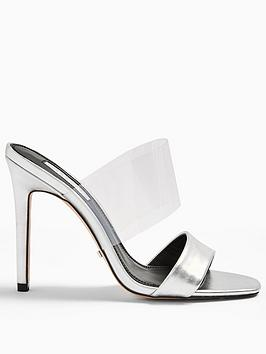 Topshop Topshop Stella Perspex Stiletto Heels - Silver Picture