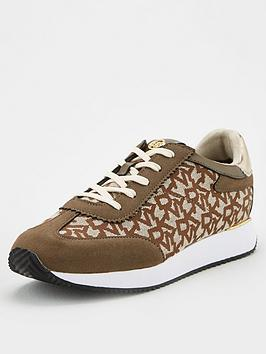 DKNY Dkny Arlie All Over Logo Trainers - Brown Picture