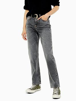 Topshop Topshop 30' Editor Jeans - Grey Picture