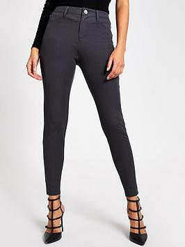 River Island River Island Molly Mid Rise Skinny Trousers - Grey Picture