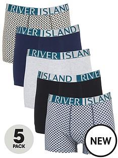 river-island-logo-5-pack-trunks-green