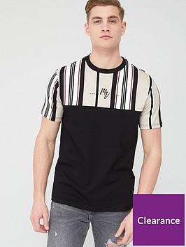 river-island-maison-riviera-stripe-slim-fit-t-shirt-creamnbsp