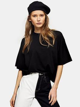 Topshop Topshop Two Pack Panel Boxy T- Shirts - Black/ White Picture