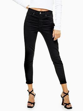 Topshop Topshop Petite Clean Jamie Jeans - Black Picture