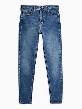 Topshop Topshop Topshop Petite 28' Clean Jamie Jeans - Blue Picture