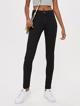 Topshop Topshop Leigh Skinny Jeans - Black Picture