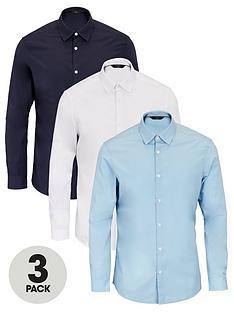 very-man-long-sleeved-easycare-shirt-3-pack-multi
