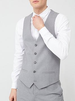 River Island River Island Textured Suit Waistcoat - Grey Picture