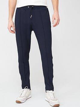 River Island  Textured Joggers - Navy
