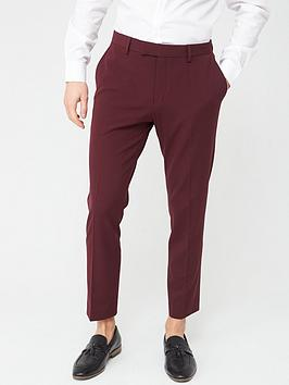 River Island River Island Stretch Skinny Suit Trousers - Dark Red Picture