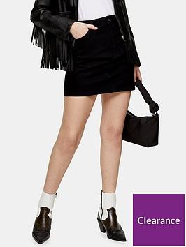 topshop-high-waisted-denim-mini-skirt-black