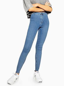 Topshop Topshop Joni Jeans - Bleached Blue Picture
