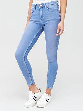 River Island River Island Amelie Mid Rise Super Skinny Jeans - Blue Picture