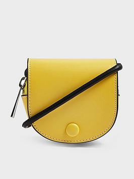 Topshop Topshop Frenchie Saddle Pouch Bag - Yellow Picture