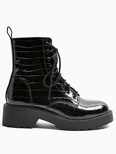 topshop-topshop-kacy-lace-up-patent-croc-boots-black
