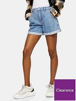 topshop-new-roll-hem-denim-shorts-blue
