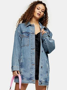 Topshop Topshop Super Oversized Denim Jacket - Blue Picture