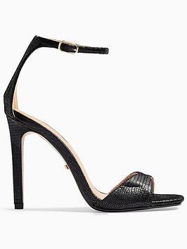Topshop Topshop Silvy Stiletto High Heels - Black Picture