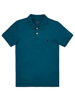 V by Very V By Very Boys Short Sleeve Polo Shirt - Green Picture