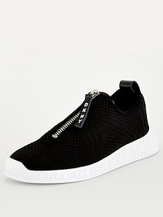 dkny-melissa-crochet-knit-zip-trainers-black