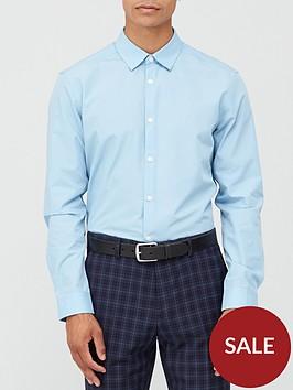 very-man-long-sleeved-easycare-shirt-blue