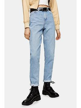 Topshop Topshop Tapered Mom Jeans - Bleached Blue Picture