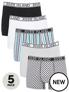 river-island-stripe-logo-5-pack-trunks-grey