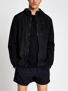 river-island-hooded-zip-through-jacket-black