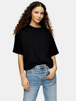 Topshop Topshop Two Pack Panel Boxy T-Shirts - Black/Grey Picture