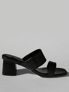 Topshop Topshop Dina Block Heel Mules - Black Picture
