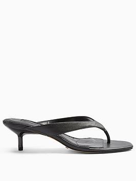 Topshop Topshop Nina Mini Heel Mules - Black Picture