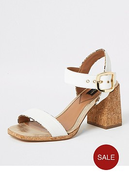 river-island-wide-fit-mid-heel-two-part-sandal-beige