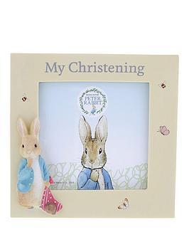 Peter Rabbit Peter Rabbit Christening Photo Frame Picture