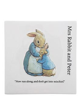 Peter Rabbit Peter Rabbit Mummy Rabbit & Peter Rabbit Wall Plaque Picture