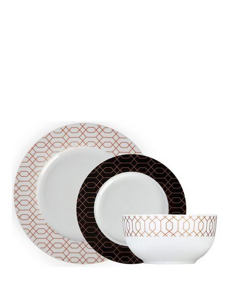 tower-geo-patterned-12-piece-dinnerware-set