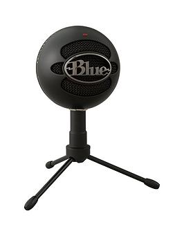 Blue   Snowball Usb Microphone - Black Ice