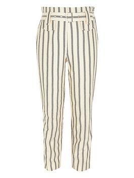 river-island-girls-stripe-belted-trousers-cream