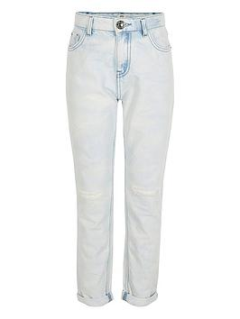 River Island River Island Girls Light Wash Mom Jeans - Blue Picture