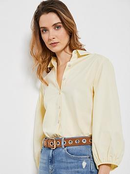 Mint Velvet Mint Velvet Full Sleeve Cotton Shirt - Yellow Picture