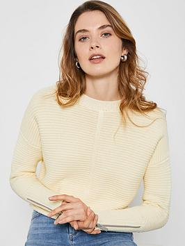 Mint Velvet Mint Velvet Stitch Boxy Jumper - Yellow Picture